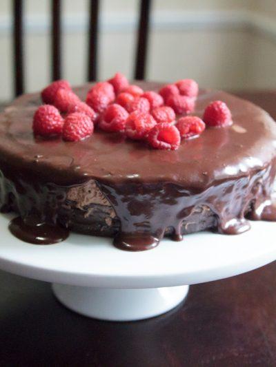 Flourless Chocolate Birthday Cake