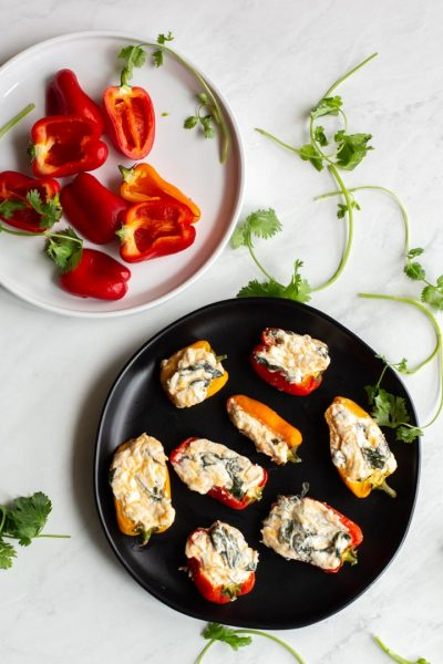 Spinach and Cheese Stuffed Peppers
