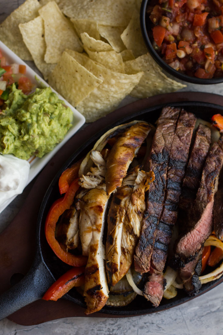 Easy Soy Lime Fajitas Marinade is the best marinade for beef, chicken, shrimp, peppers and onions. Perfect for Taco Tuesday or any Tex-Mex feast!