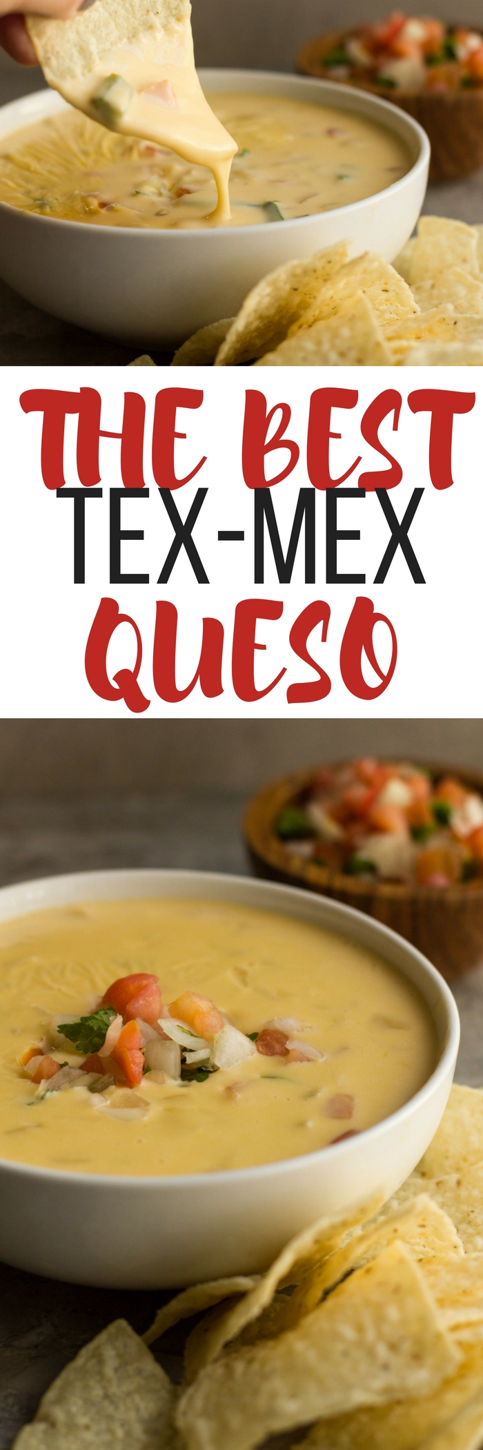 The BEST Tex Mex Queso - made WITHOUT Velveeta and Rotel. This recipe is just like what you find in restaurants.