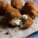 salmon croquettes on a table
