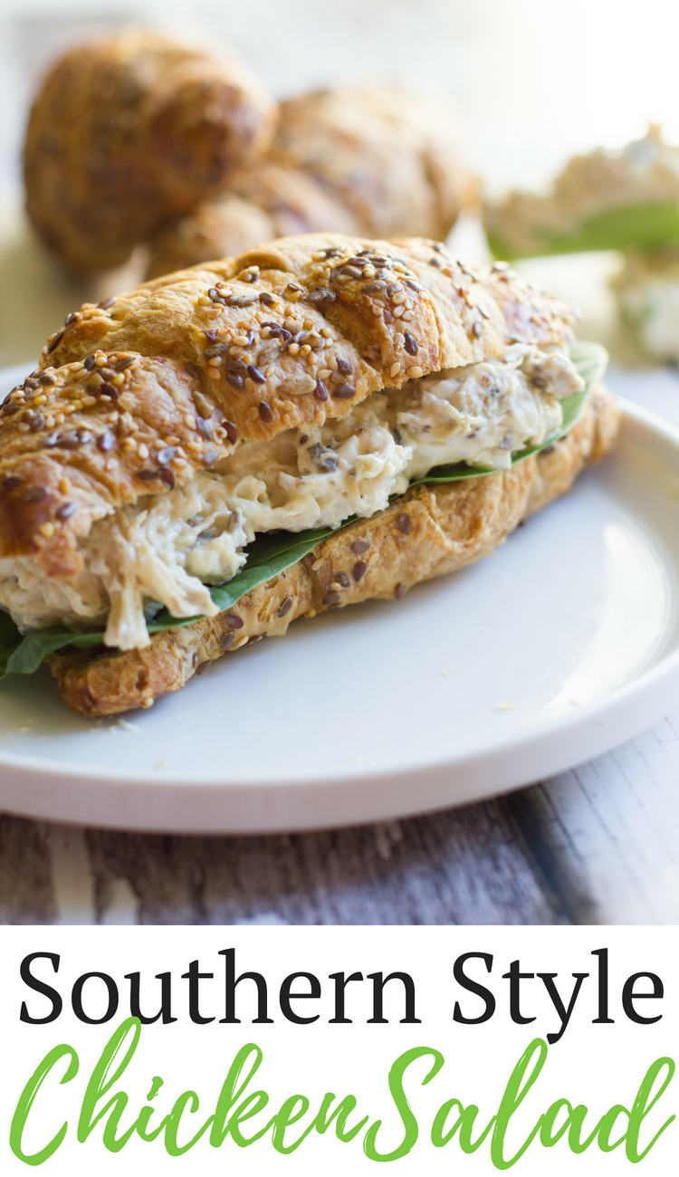Southern Style Chicken Salad is a savory chicken salad family recipe, no fruit or nuts included.
