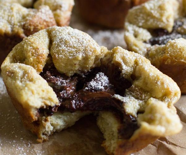 Nutella Stuffed French Toast Cups. The perfect marriage of french toast and nutella with an easy recipe that's great for when you're on the go.