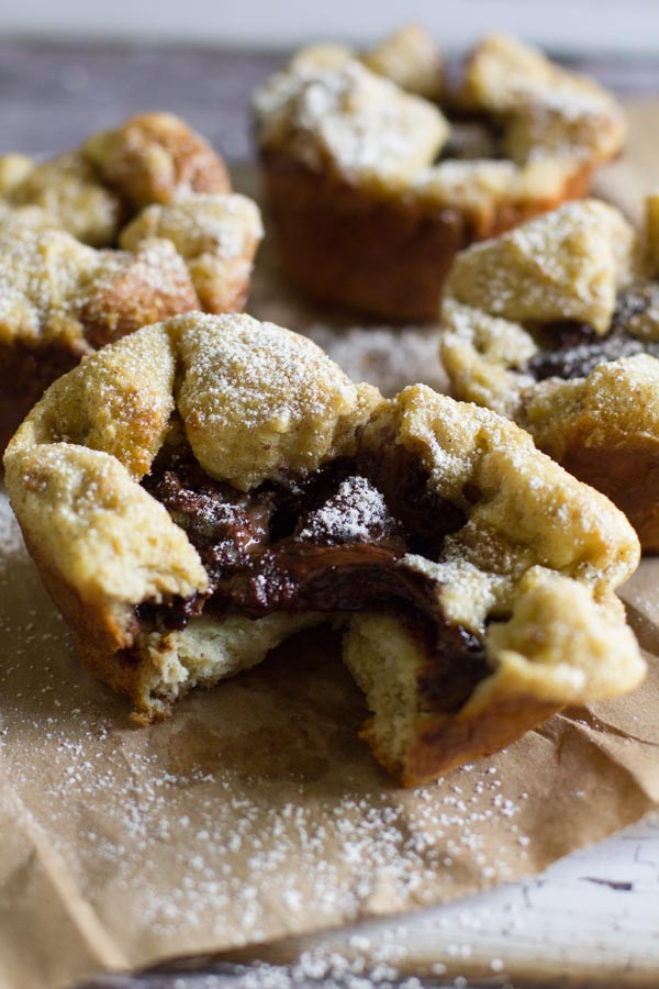 Nutella Stuffed French Toast Cups