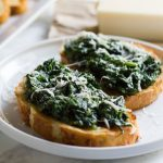 Spinach Asiago Bruschetta. It's the perfect appetizer to any meal and takes only a few minutes to prepare!