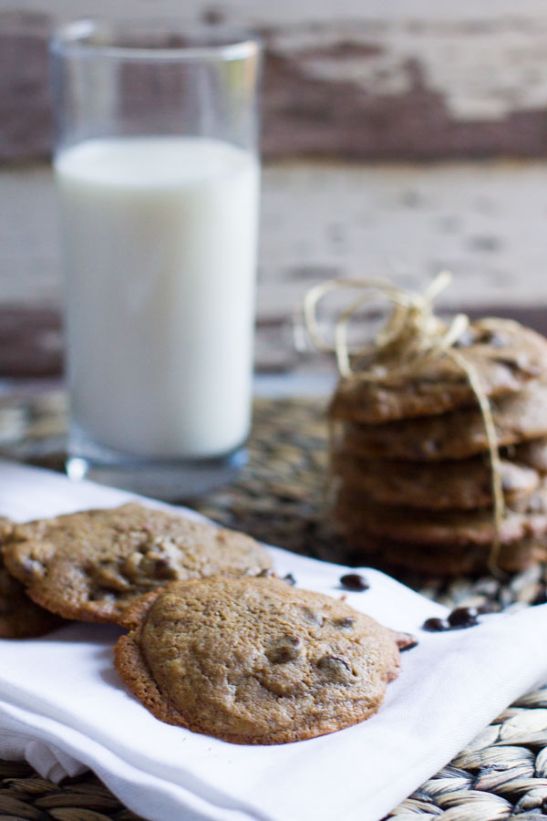 Espresso Chocolate Chip Cookies - Away From the Box