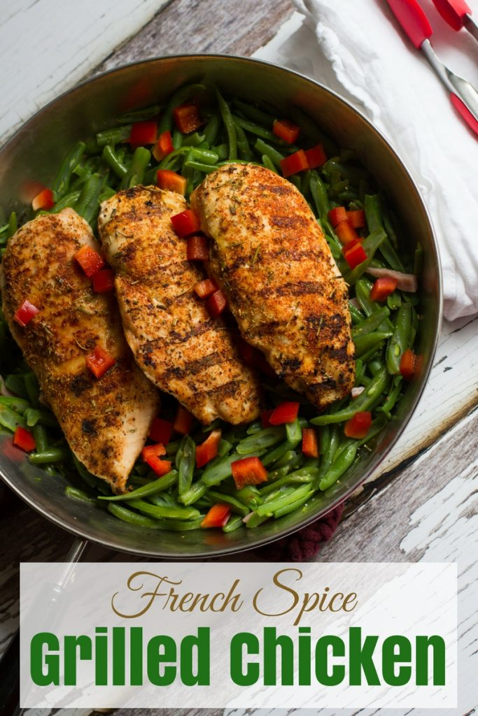 A delicious, fresh tasting spice rub perfect for grilled chicken.