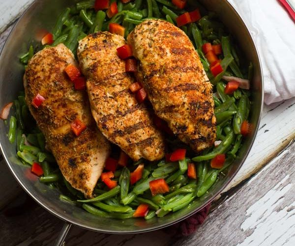 A delicious, fresh tasting rub with a blend of rench spices, perfect for grilled chicken.