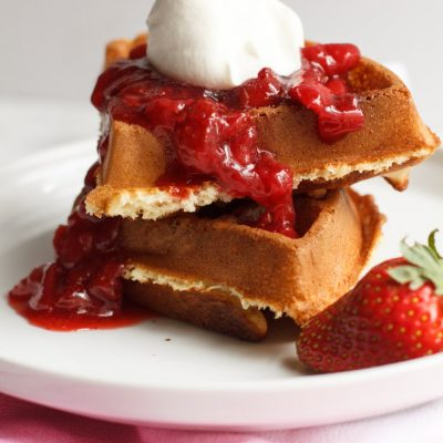 Waffles & Strawberry Syrup – a Stranger Things Recipe