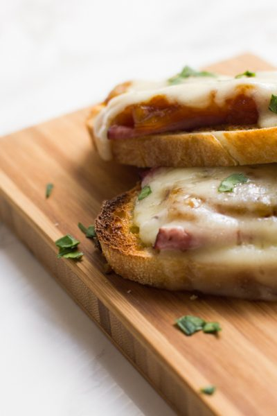French Onion Open-Faced Sandwiches