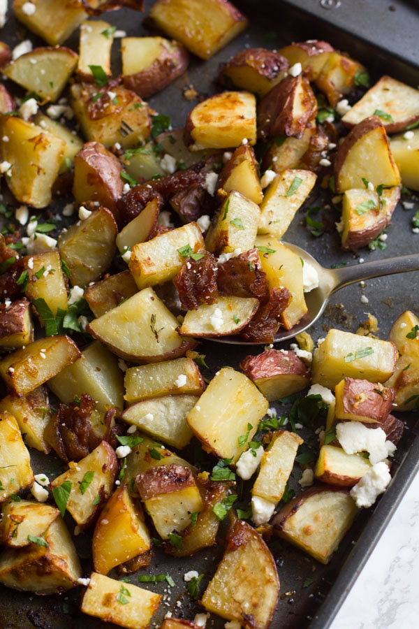 Mediterranean Roasted Potatoes   Sheet Pan Potatoes   Roasted Potatoes   Potato   Sheet Pan Mediterranean   Vegetarian   Side Dishes   Easy Side Dishes