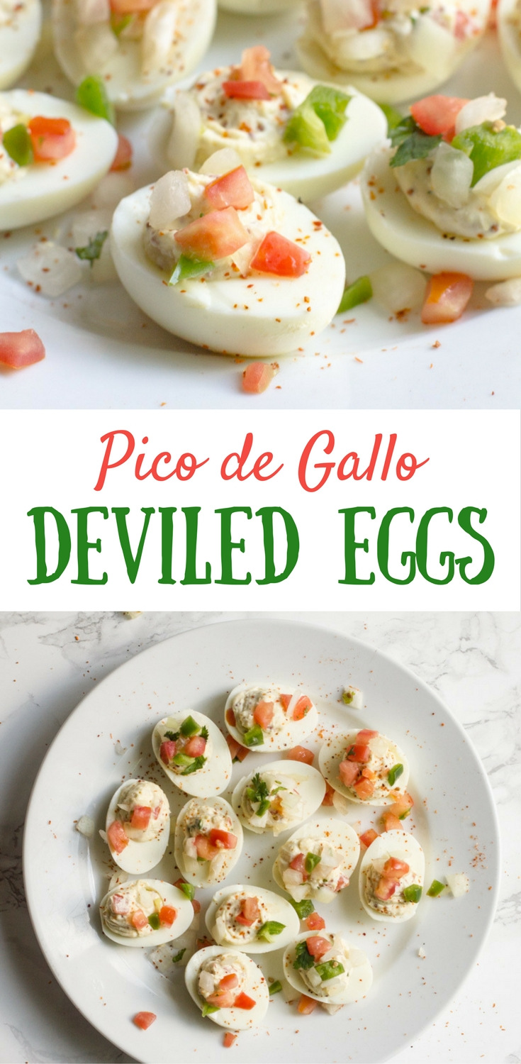 Pico de Gallo | Deviled Eggs | Pico de Gallo Deviled Eggs | Boiled Eggs | Easter Brunch | Deviled Eggs Recipe | Tajin