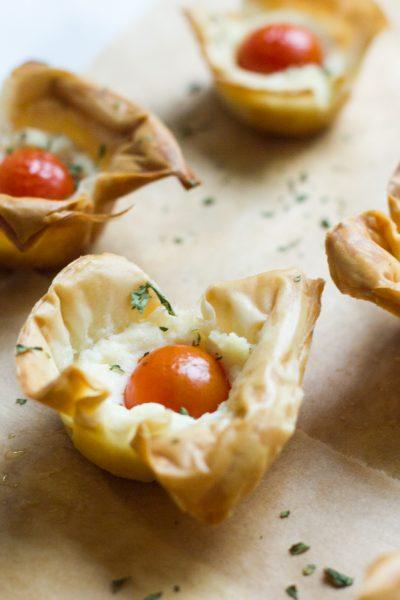 Tomato Ricotta Phyllo Cups