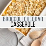 Broccoli cheddar casserole is a holiday and potluck favorite. This recipe combines broccoli, cheese, rice and crackers to make a casserole that's easy, cheesy, creamy, and perfect for sharing.
