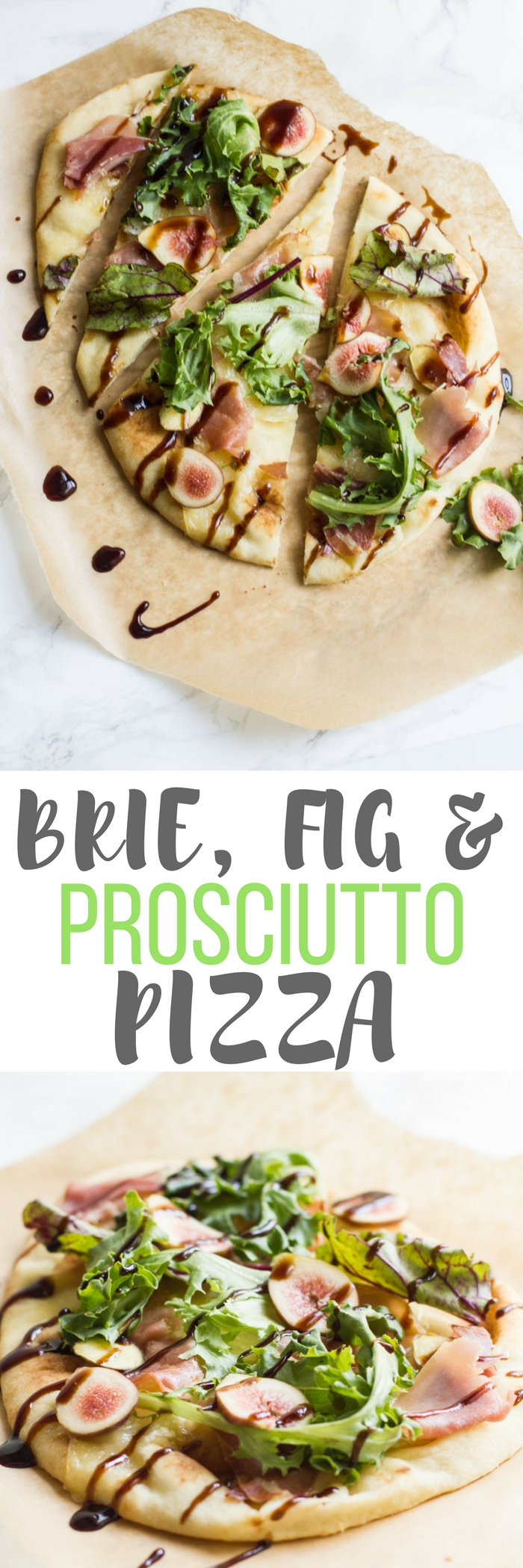 This Brie, Fig & Prosciutto Pizza has earthy, sweet, salty and cheesy flavors in every bite. It makes the perfect lunch or light dinner.