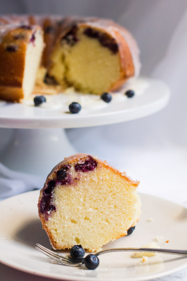Lemon Blueberry Pound Cake Away From The Box