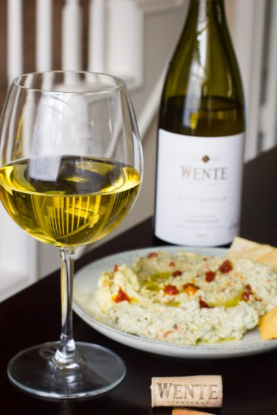 Make Time with Wente + Whipped Feta Dip with Spinach & Sun-dried Tomatoes