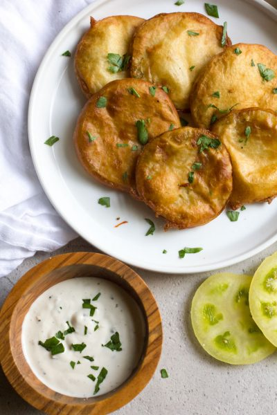 Fried Green Tomatoes + How to Make Beer-Free Batter