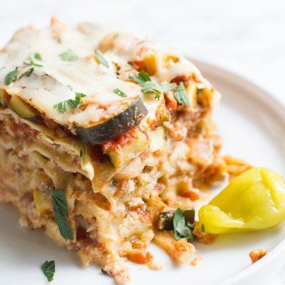 Brighten Every Bite with Mezzetta + Crock Pot Vegetable Lasagna
