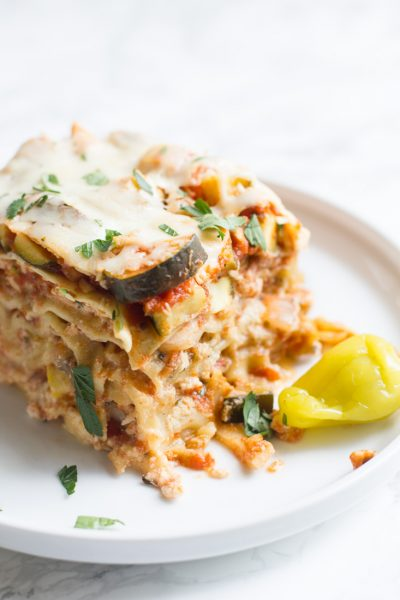 Brighten Every Bite with Mezzetta + Crock Pot Vegetable Lasagna