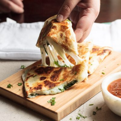 Cheesy Spinach Quesadillas