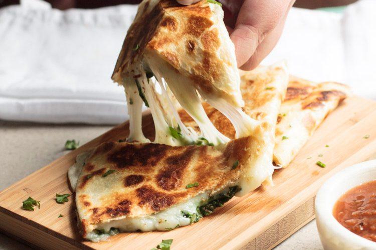 Cheesy Spinach Quesadillas