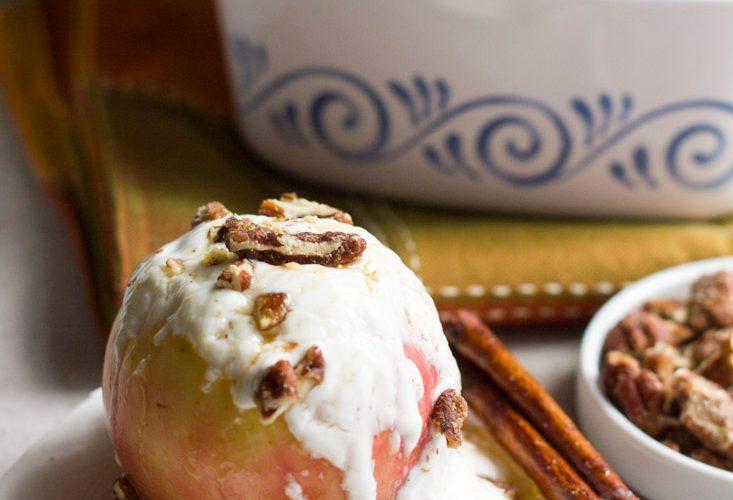 Cinnamon Honey-Baked Apples with Yogurt and Pecans