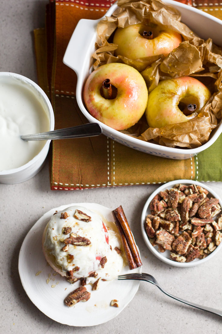 An awesome fall dessert that can be enjoyed anytime of year. These cinnamon honey-baked apples are the perfect dessert when you want all of the flavors of apple pie!