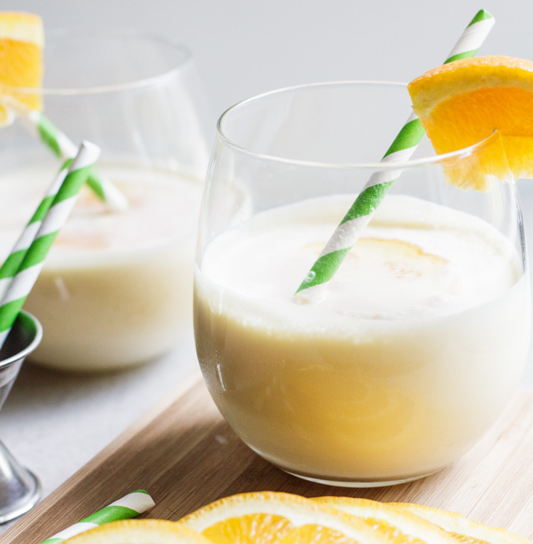 A creamy blend of orange and vanilla, this recipe for the ultimate creamsicle margarita is always a hit!