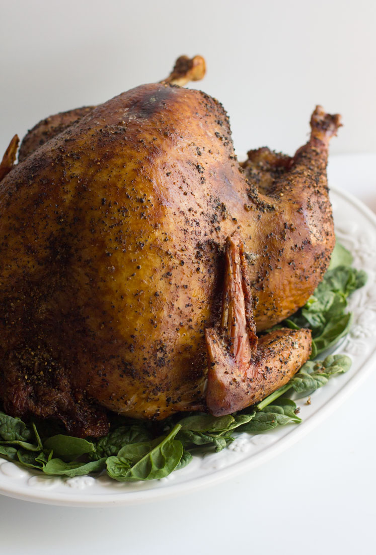 Learn how to make a whole smoked turkey for Thanksgiving or anytime. No need for fancy rubs - just salt and pepper here. It's all in the technique!