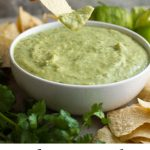 Tomatillos and avocados create this creamy, smooth salsa verde. It has a completely unique (and addicting!) taste that's found in many restaurants throughout Texas.