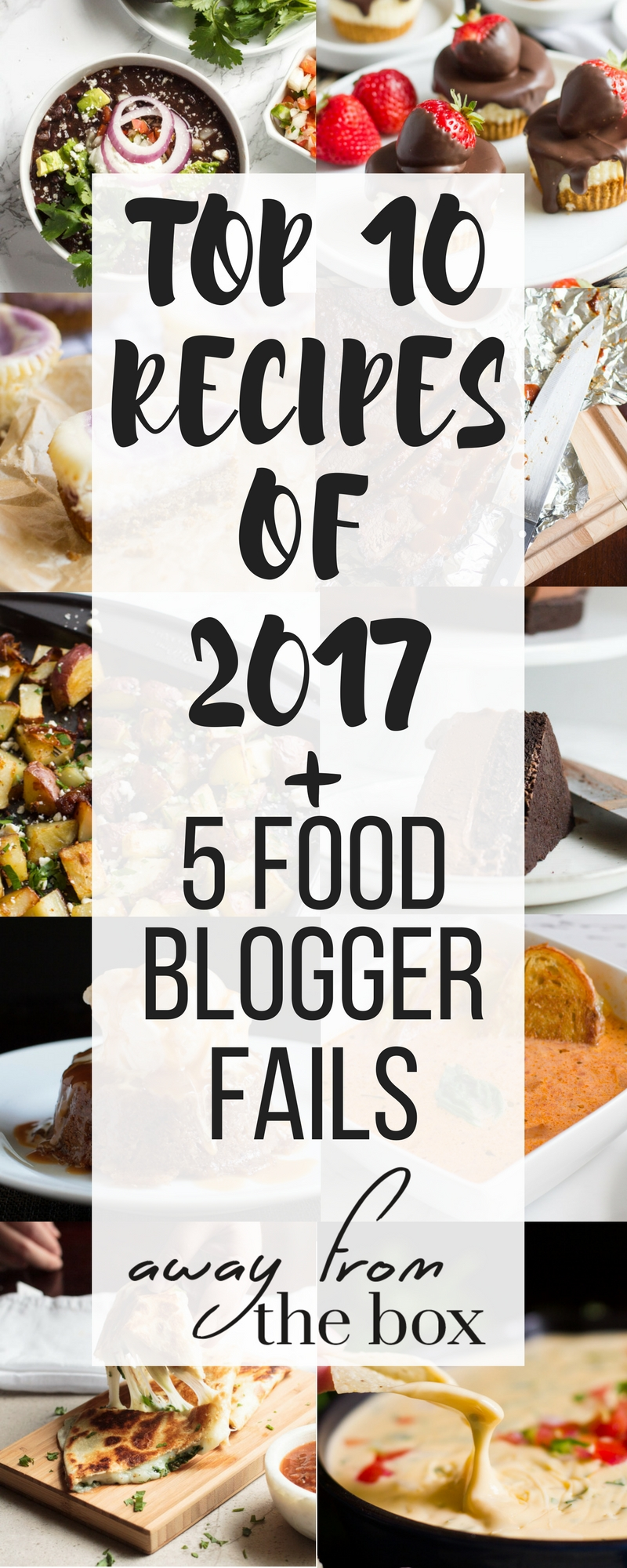 Top 10 recipes on Away From the Box in 2017! Also includes never before seen content - recipes that didn't make it to the blog!