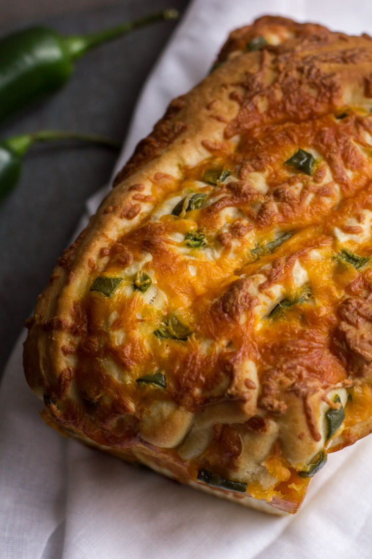 whole loaf of jalapeno cheese bread