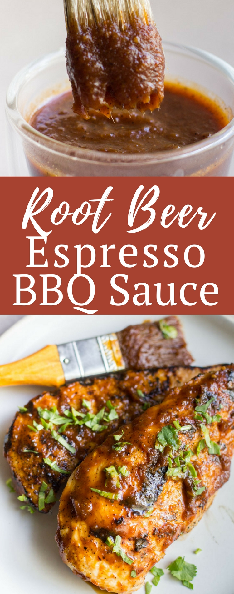 This Root Beer Espresso BBQ Sauce is the sauce you never knew you needed, but you'll never go without again. It has such a great, full bodied flavor full of sweet and spice - it's exactly the kind of sauce your next summer barbecue needs.