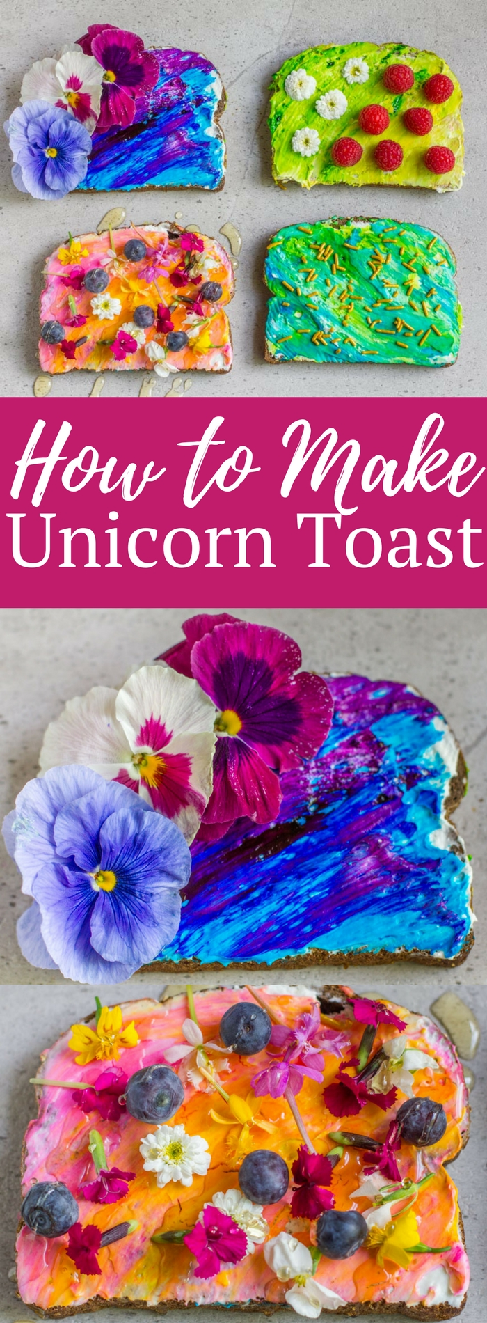 Find out how to make these Instagram worthy treats! Making gorgeous unicorn or mermaid toast is easier than you think!