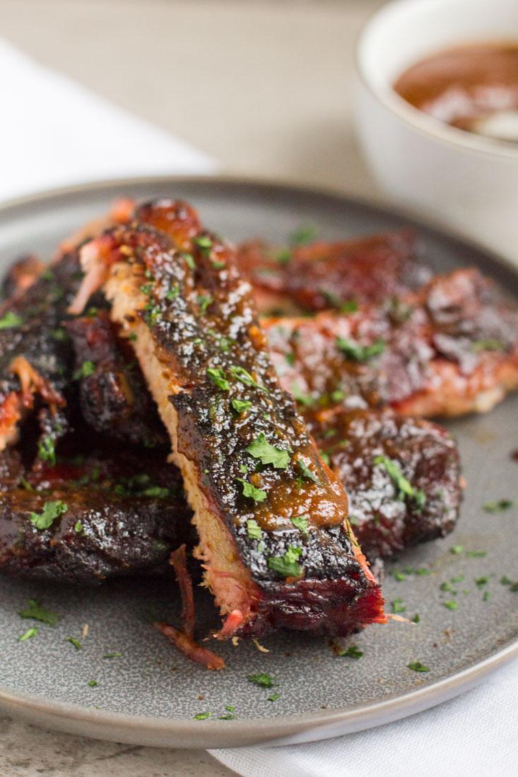 pork ribs on a plate