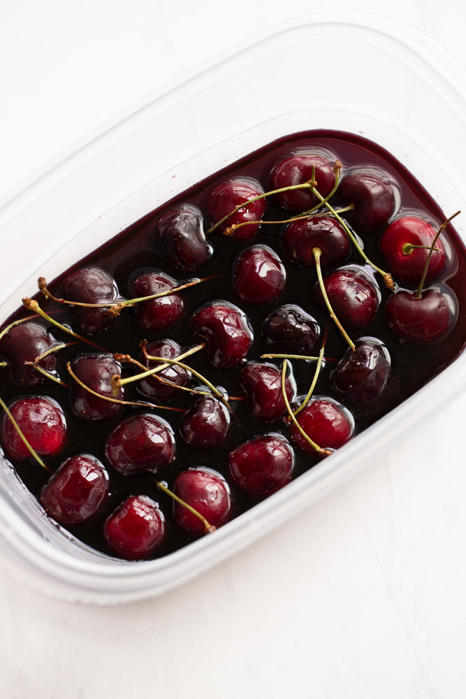 northwest cherries soaked in red wine