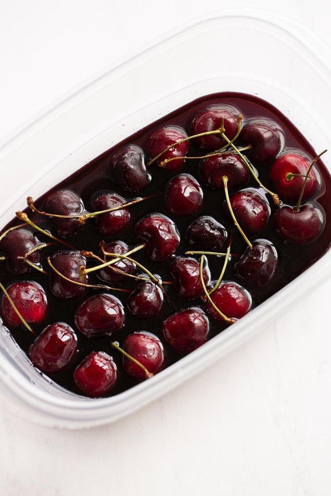 northwest cherries soaked in red wine