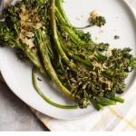 Sheet Pan Parmesan Roasted Broccolini is a fast, easy and flavorful side dish. They're a delicious way to introduce more greens to your life.