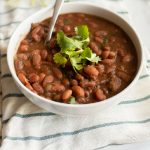 Instant Pot Charro Beans are a thick, smoky and spicy side dish. These beans are always a hit at potlucks, cookouts, fiestas, backyard BBQs and even Thanksgiving!