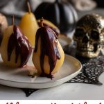 This recipe for poached pears shows just how easy it can be! Serve them as a finish to a nice dinner, at a dinner party with your friends, or with a spooky Halloween themed meal.