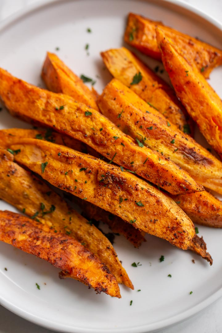 Roasted Sweet Potato Wedges Away From The Box