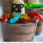 These Baileys Chocolate Mousse Cups have a spooky twist! They are super tasty and a great addition to your adult Halloween party, and easily adaptable for other holidays or non-drinkers!