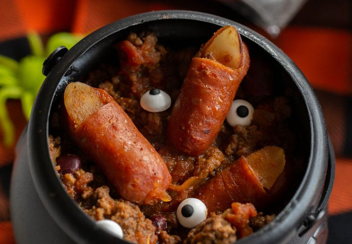 Feast on these Fright Bites with Witch Fingers in Chili!