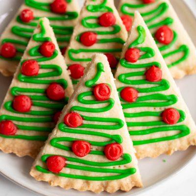 Shortbread Christmas Tree Cookies