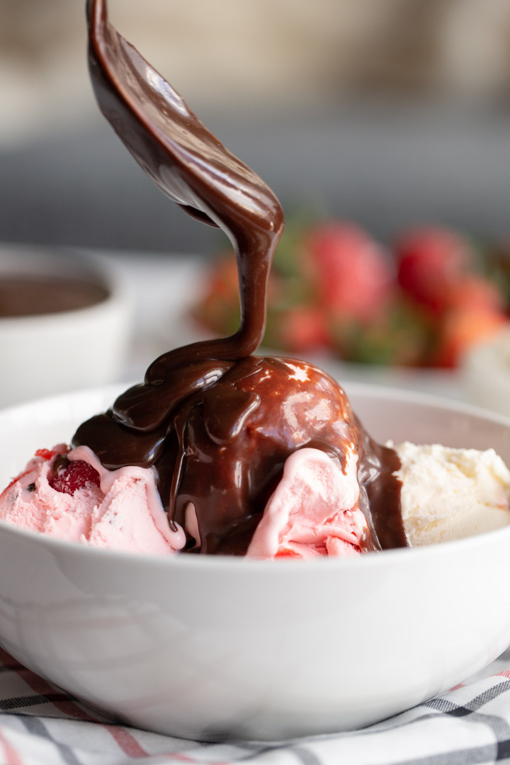 Easy Hot Fudge Sauce Away From The Box