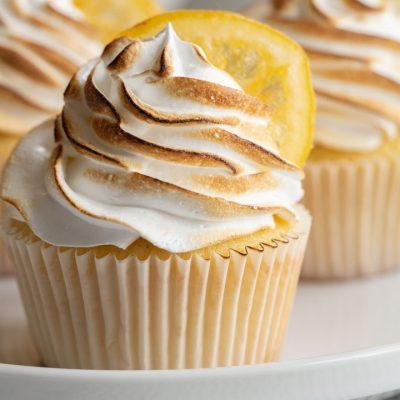 Lemon Meringue Cupcakes with Candied Lemon