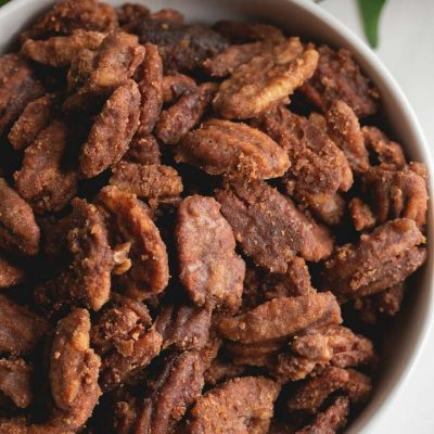 Slow Cooker Spicy Candied Pecans