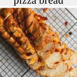 One bite of this soft and yeasty homemade pepperoni pizza bread is all you'll need to fall in love. Bursting with swirls of asiago cheese and shredded pepperoni, this bread is great for sandwiches, paninis, snacking and more!