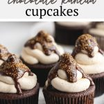 Rich malted chocolate cupcakes topped with kahlua buttercream and a boozy chocolate ganache. These cupcakes are great for parties and coffee lovers!